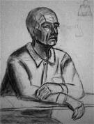 Vīrieša portrets ( 1. nodarbība, ogles zīmējums)