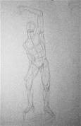 Vīrieša figūras zīmējums ( 1. nodarbība)