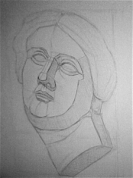 Ģipša maskas zīmējums