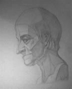 Voltera ģipša galvas zīmējums