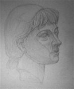 Pionieres ģipša galvas zīmējums