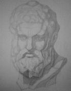 Herakla ģipša galvas zīmējums