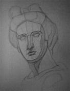 Apolona ģipša galvas zīmējums