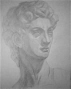 Dāvida ģipša galvas zīmējums